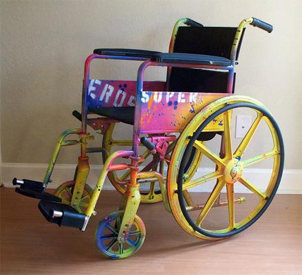 cool painted wheelchair