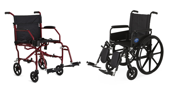 Manual Wheelchair vs. Transport Chair