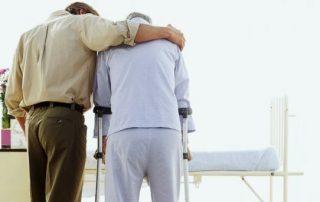 son caring for elderly parent
