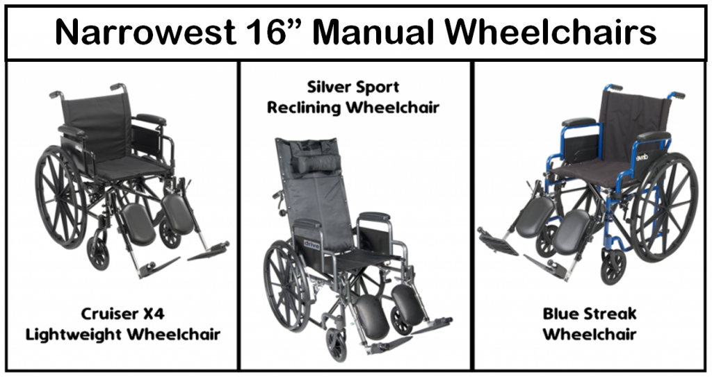 """Narrowest 16"""" Manual Wheelchairs for Tight Spaces"""