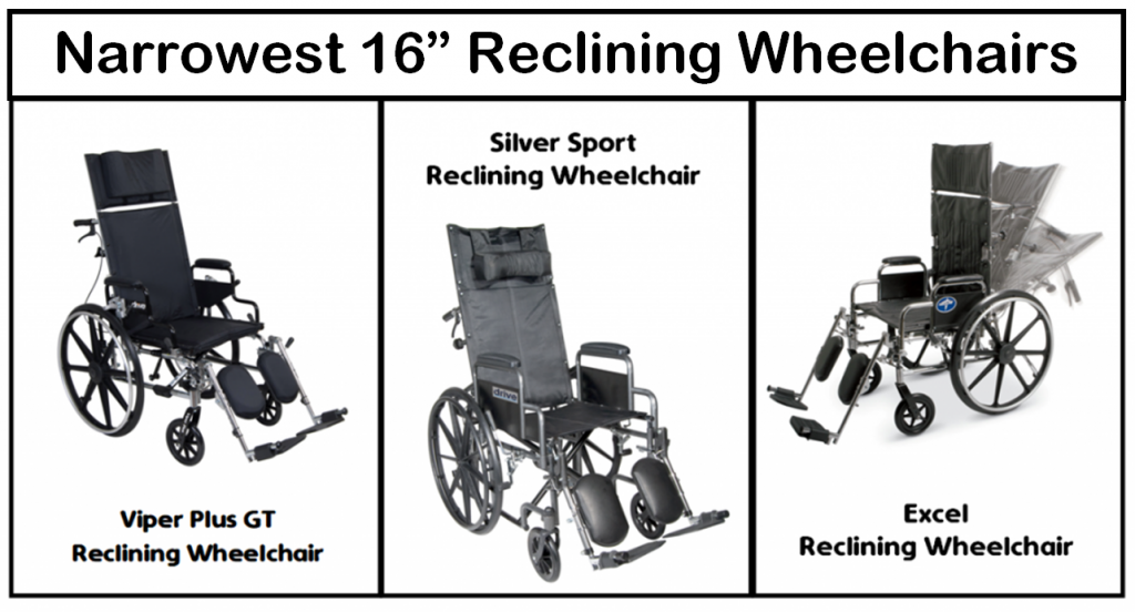 Narrowest Reclining Wheelchairs