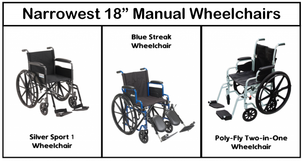 """Narrowest 18"""" Wheelchairs for Tight Spaces"""