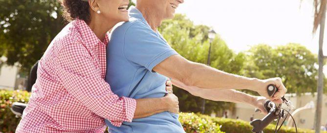 happy senior couple enjoying life