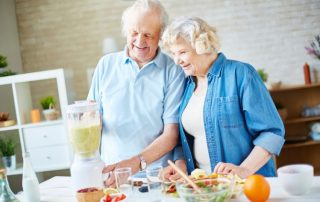 seniors preparing nutritious meal