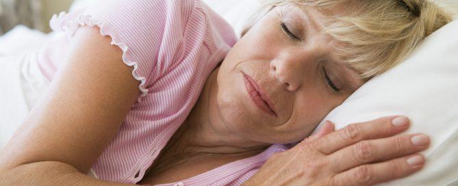 old lady sleeping