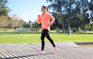 lady jogging