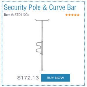 security pole & curve bar