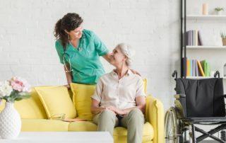 senior with wheelchair