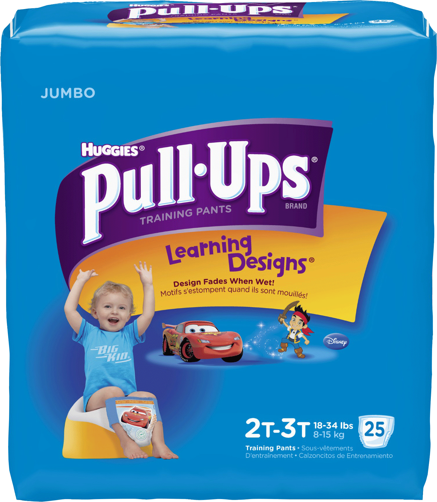 Pull-Ups Learning Designs Training Pants, 2T-3T Boy, Jumbo Pack