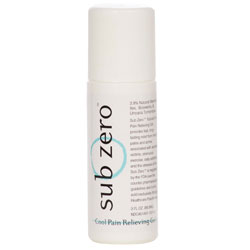 Sub Zero Cool Pain Relieving Gel, 3 oz Roll-On