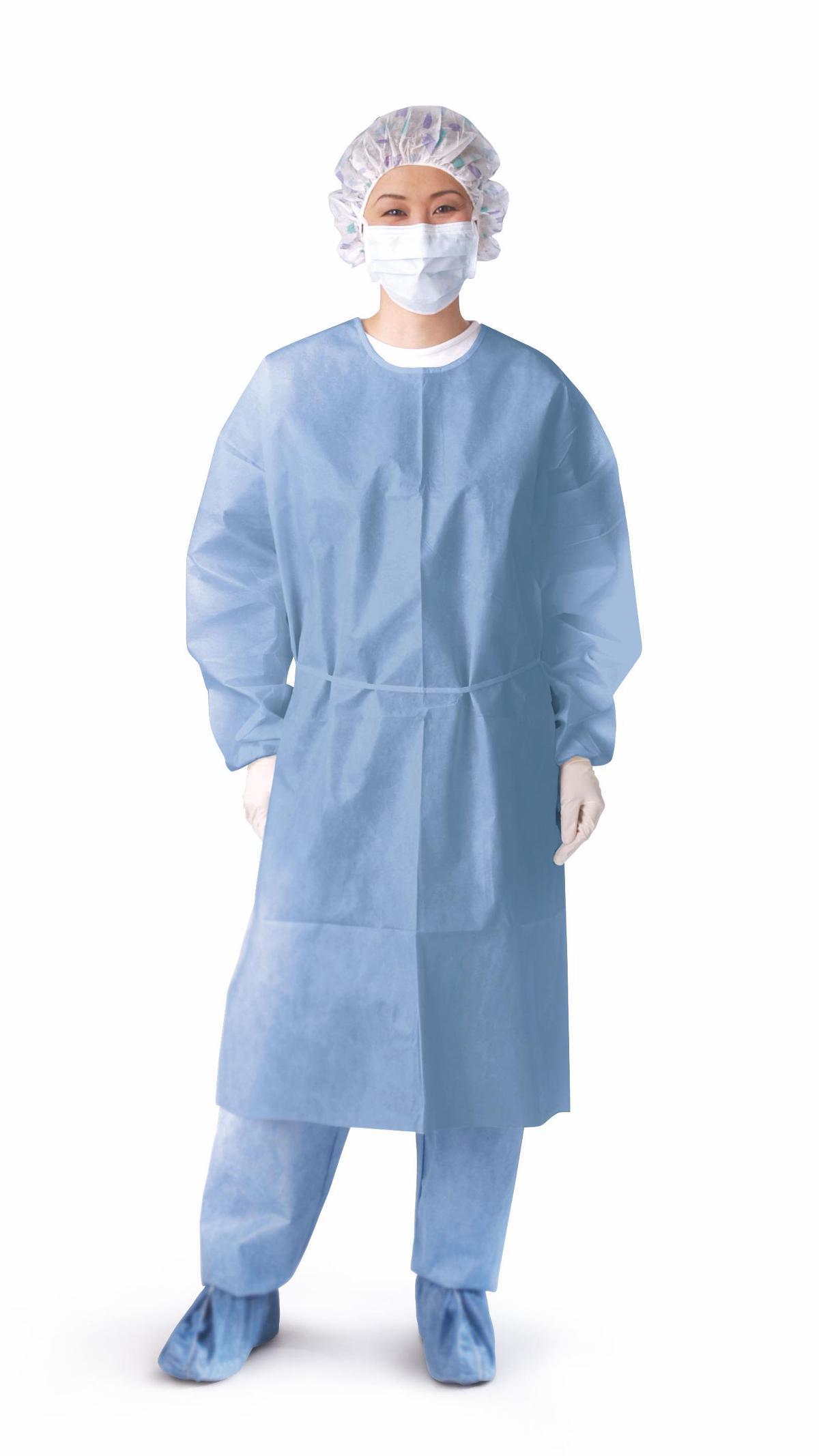 Closed-back Coated Polypropylene Isolation Gowns | AvaCare Medical