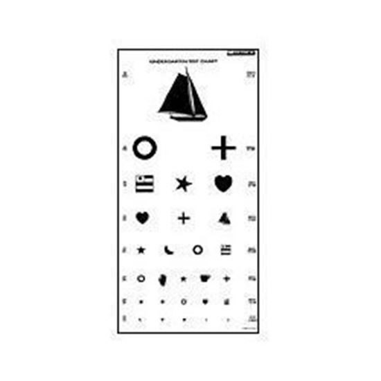 Tech Med Plastic Eye Test Chart Kindergarten Avacare Medical