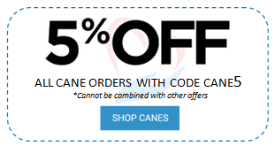 5% off canes