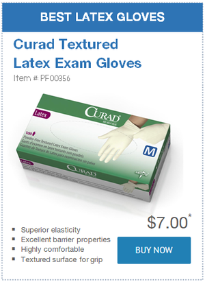 Best Latex Gloves: Curad Textured Latex Exam Gloves