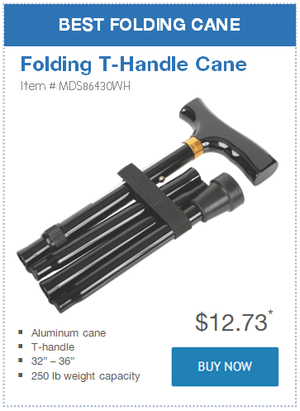 Best Folding Cane: Folding T-Handle Cane