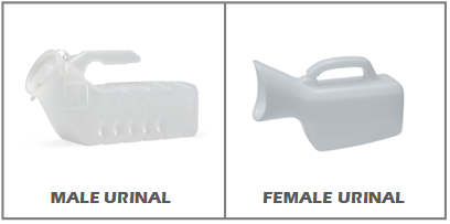 The visual difference between standard travel urinals for men and women