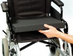 Gel cushion on transport chair